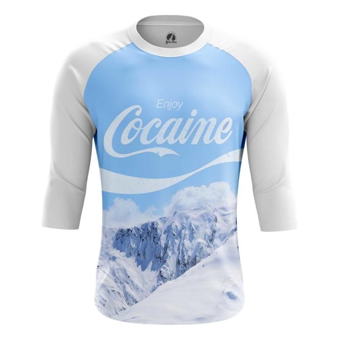 Buy Raglan sleeve mens t shirt Enjoy Coke Cocaine Mountains merchandise collectibles