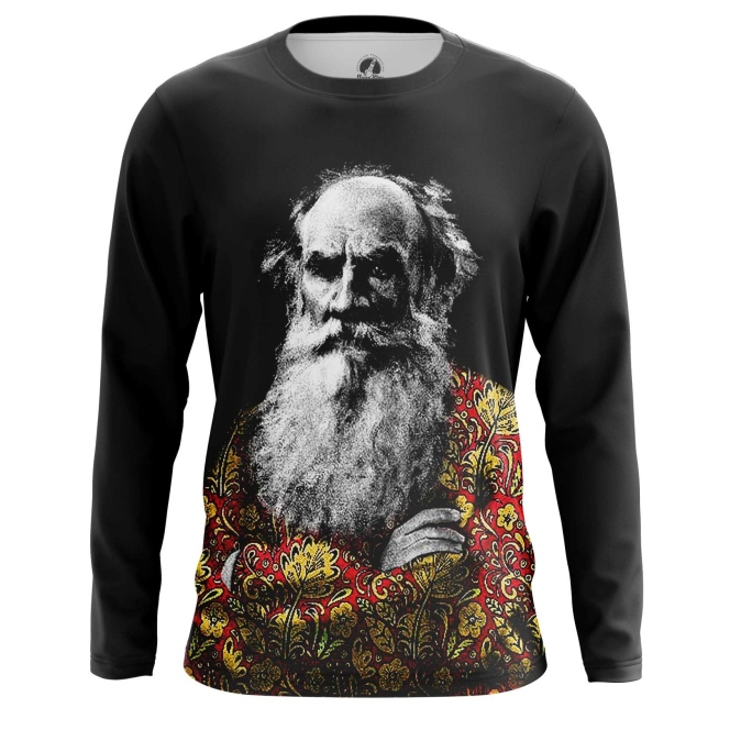 Buy Long sleeve mens t shirt Leo Tolstoy Russian writer Merchandise collectibles