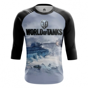 Buy Raglan sleeve mens t shirt World of Tanks Ice Battle Force Tank Game Arcade Merchandise collectibles