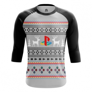 Buy Raglan sleeve mens t shirt Playstation New Year X mas Christmas Special Apparel merchandise collectibles