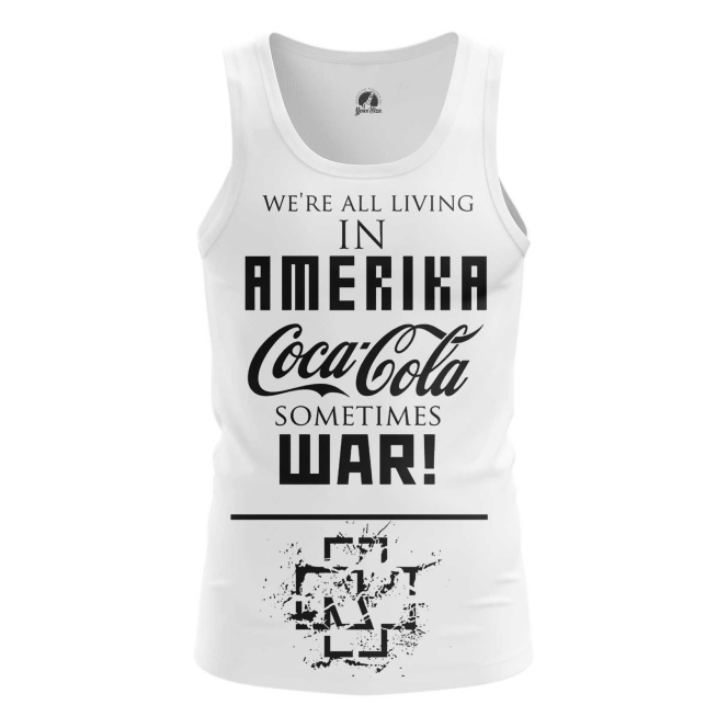 Buy Tank mens t shirt Rammstein Merchandise Band Apparel Amerika Merchandise collectibles