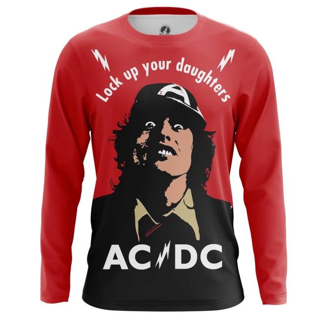 Buy Long sleeve mens t shirt AC/DC Merchandise Gear Apparel Fans Merchandise collectibles