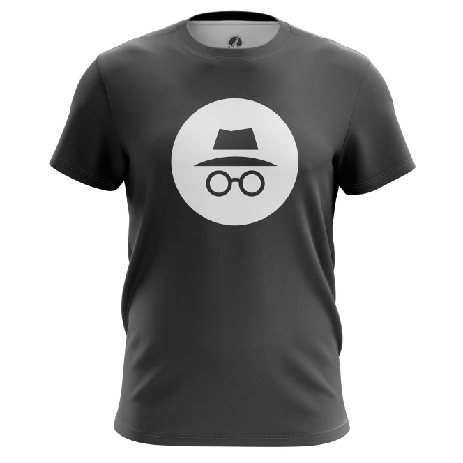 Buy Mens t shirt Privacy Mode Incognito Web Fun Art Merch Merchandise collectibles