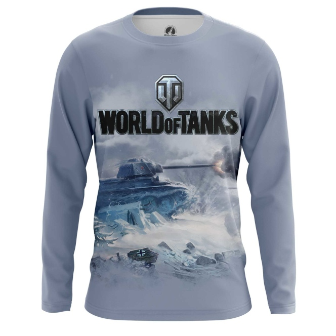 Buy Long sleeve mens t shirt World of Tanks Ice Battle Force Tank Game Arcade Merchandise collectibles