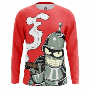 Buy Long sleeve mens t shirt Bender Futurama TV Series Merchandise collectibles