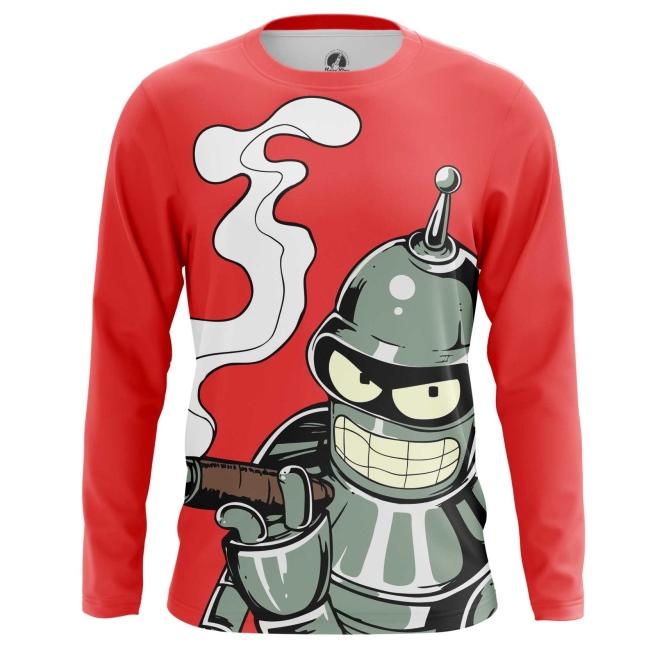 Buy Long sleeve mens t shirt Bender Futurama TV Series merchandise collectibles