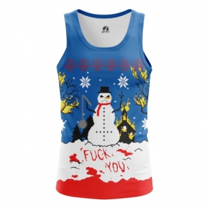 Buy Tank mens t shirt Christmas of white Snowman Satan Killer merchandise collectibles