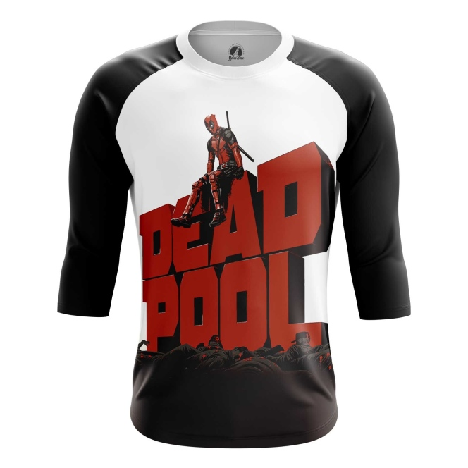 Buy Raglan sleeve mens t shirt Deadpool in cinema Apparel Merchandise collectibles