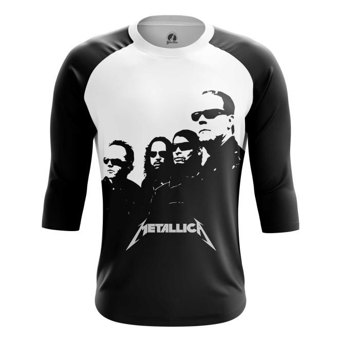 Buy Raglan sleeve mens t shirt Metallica Band Apparel Merchandise Fans Props in black merchandise collectibles