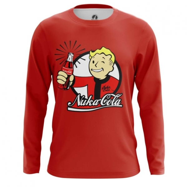 b6af3f753f5 Long sleeve mens t-shirt Nuka Cola Wallpaper Vault Boy Fallout – Buy ...