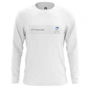Buy Long sleeve mens t shirt Not a robot Mem Art Captcha Web Fun merchandise collectibles