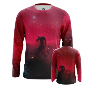 Buy Long sleeve mens t shirt Horsehead Nebula Space Universe Print Merchandise collectibles