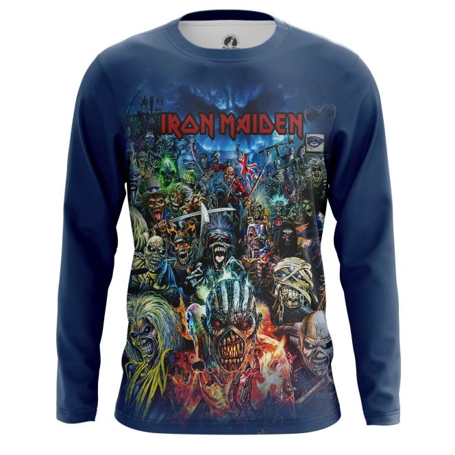 Buy Long sleeve mens t shirt Iron Maiden Merchandise Apparel Merchandise collectibles
