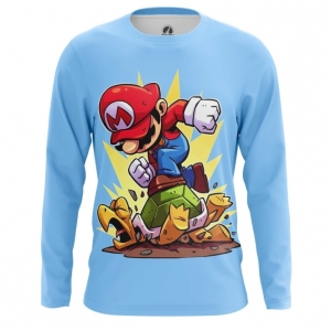 Buy Long sleeve mens t shirt Mario Turtle Attack game Illustration merchandise collectibles