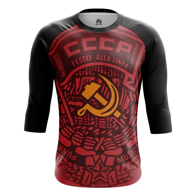 Buy Raglan sleeve mens t shirt USSR Red Hammer and sickle Merchandise collectibles