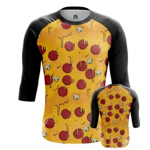 Buy Raglan sleeve mens t shirt Pizza Pattern Art Food Apparel merchandise collectibles