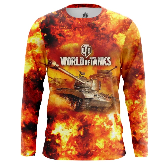 Buy Long sleeve mens t shirt World of Tanks in Fire Gaming Arcade Merchandise collectibles