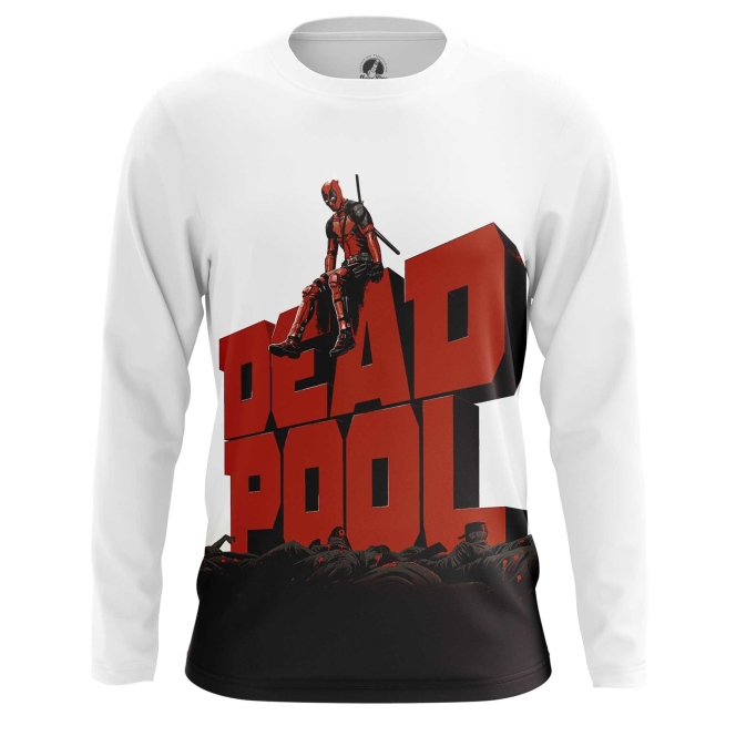Buy Long sleeve mens t shirt Deadpool in cinema Apparel Merchandise collectibles