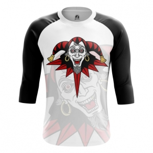 Buy Raglan sleeve mens t shirt Joker Harlequin Apparel Merch merchandise collectibles