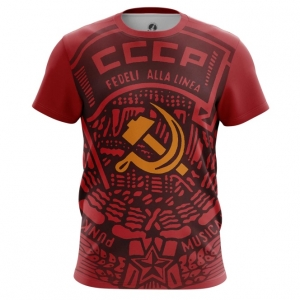 Buy Mens t shirt USSR Red Hammer and sickle Merchandise collectibles