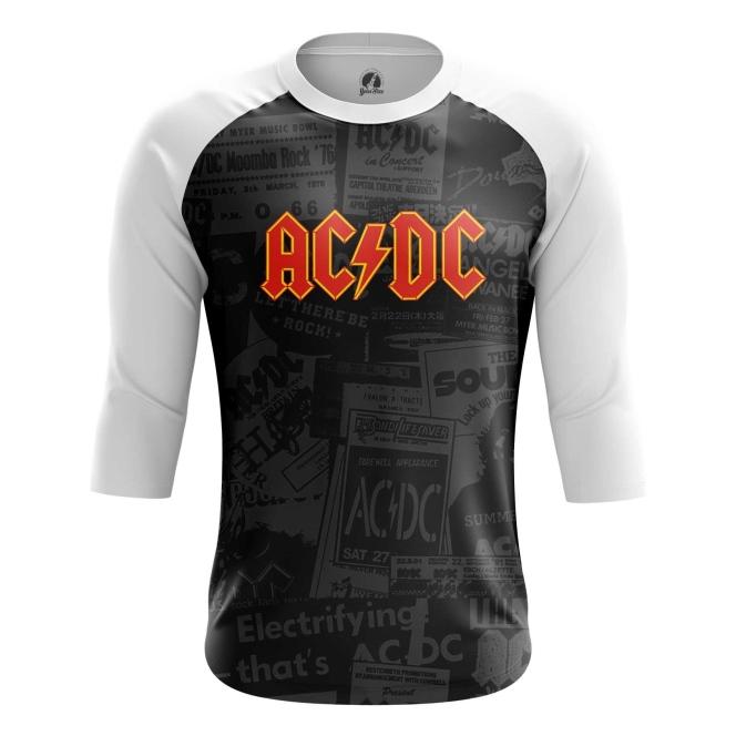 Buy Raglan sleeve mens t shirt AC DC Merchandise Gear Apparel Fans Merchandise collectibles