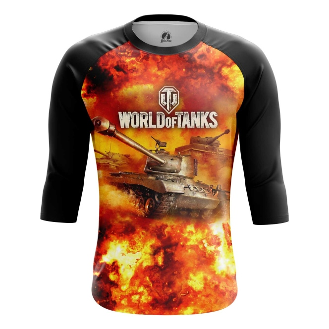 Buy Raglan sleeve mens t shirt World of Tanks in Fire Gaming Arcade Merchandise collectibles