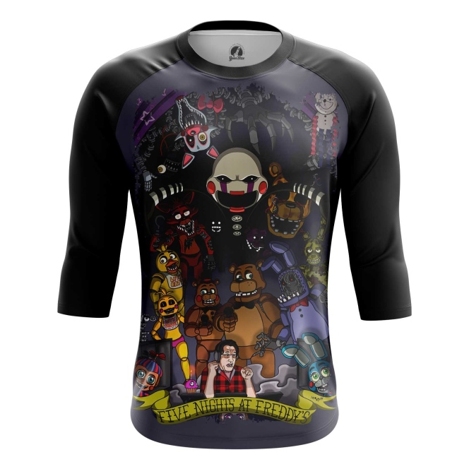 Buy Raglan sleeve mens t shirt 5 Nights at freddy's Merchandise Apparel Merchandise collectibles