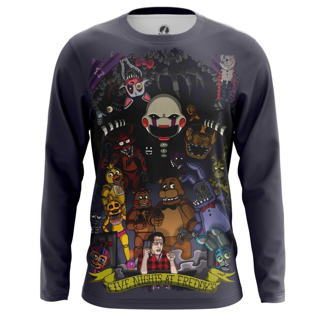 Buy Long sleeve mens t shirt 5 Nights at freddy's Merchandise Apparel merchandise collectibles