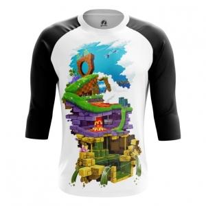Buy Raglan sleeve mens t shirt Sonic Sega Levels Sonic's World Universe merchandise collectibles