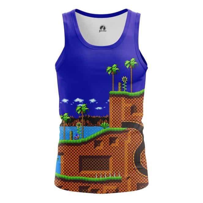 Buy Tank mens t shirt sonic the hedgehog 16 bit World merchandise collectibles