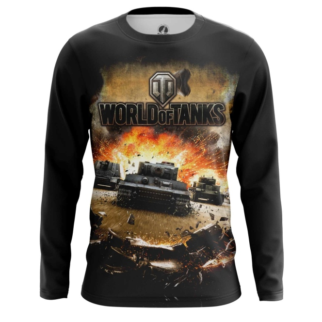 Buy Long sleeve mens t shirt World of Tanks Gaming Apparel Merchandise collectibles