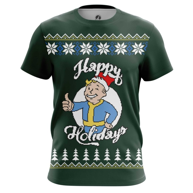 Buy Mens t shirt Fallout New Year X mas Christmas Special Apparel Merchandise collectibles