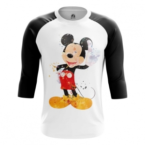 Buy Raglan sleeve mens t shirt Mickey Mouse disney Merchandise Clothing arts Merchandise collectibles