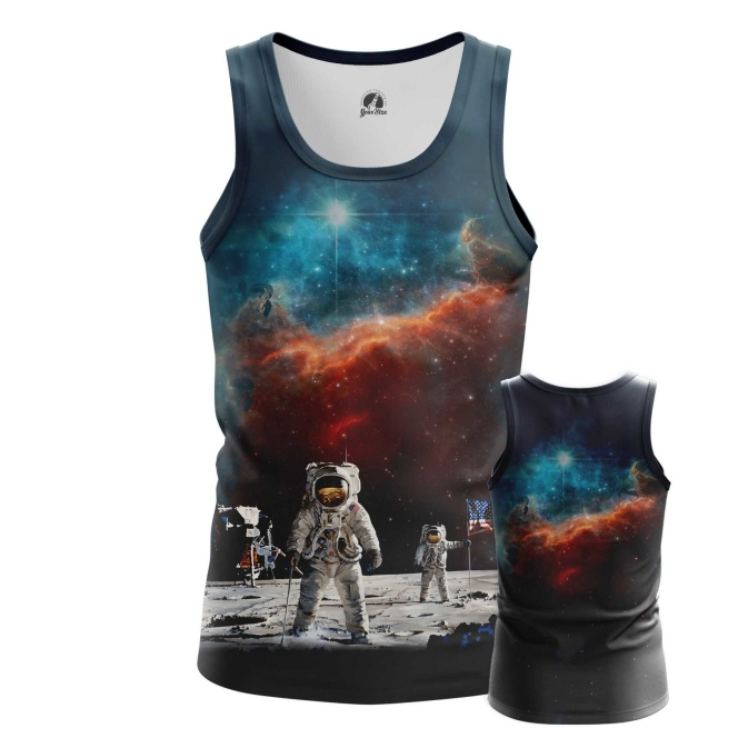 Buy Tank mens t shirt Cosmonauts Art Merchandise Clothing Space merchandise collectibles