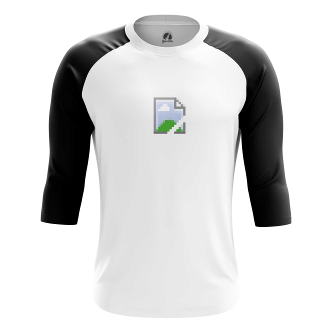 Buy Raglan sleeve mens t shirt Pic Icon No Image Web Art Fun Merchandise collectibles