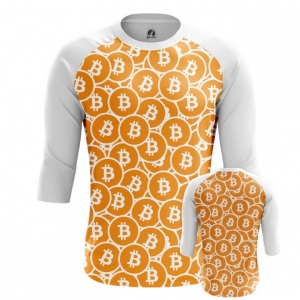 Buy Raglan sleeve mens t shirt Bitcoin Pattern Merchandise Mining cryptocurrency Merchandise collectibles