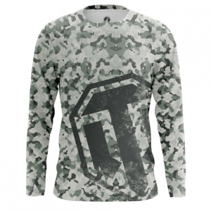 Buy Long sleeve mens t shirt World of Tanks Navi Military Pattern Merchandise collectibles