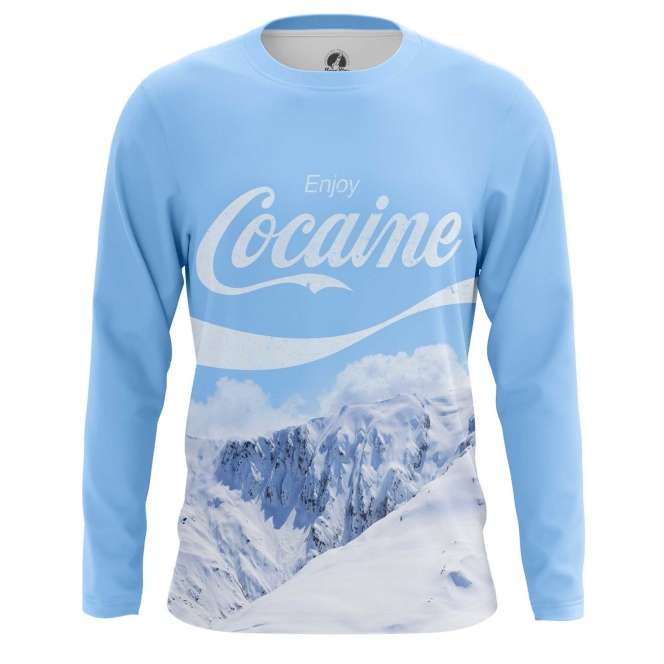 Buy Long sleeve mens t shirt Enjoy Coke Cocaine Mountains merchandise collectibles