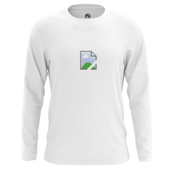 Buy Long sleeve mens t shirt Pic Icon No Image Web Art Fun Merchandise collectibles