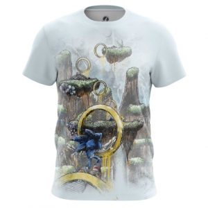 Buy Mens t shirt Sonic the hedgehog Rings Game art merchandise collectibles