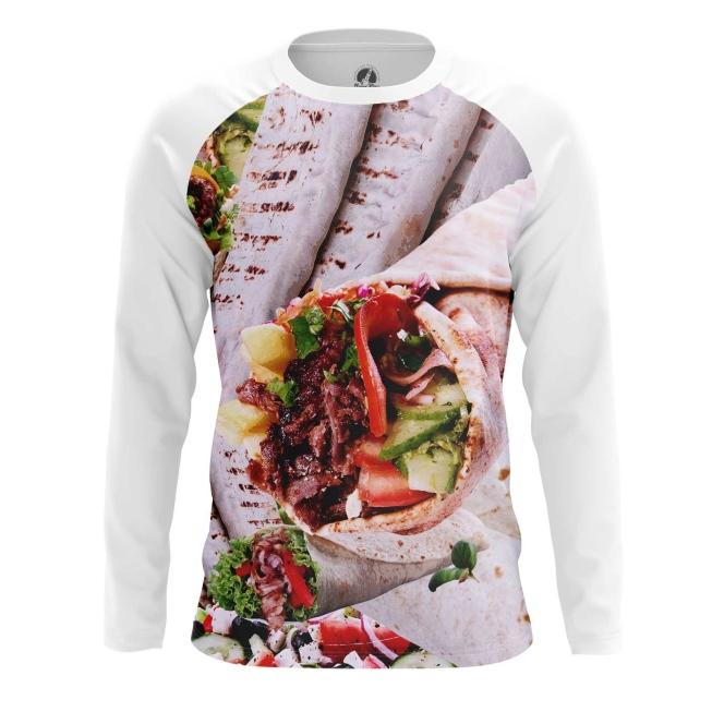 Buy Long sleeve mens t shirt Shawarma Food Art Fun Apperel Meat merchandise collectibles