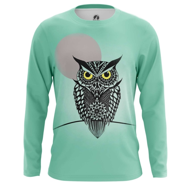 Buy Long sleeve mens t shirt Owl Bird Art Animals Apparel Shirts Merchandise collectibles
