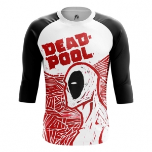 Buy Raglan sleeve mens t shirt Deadpool Art Painted Picture Cartoon Merchandise collectibles