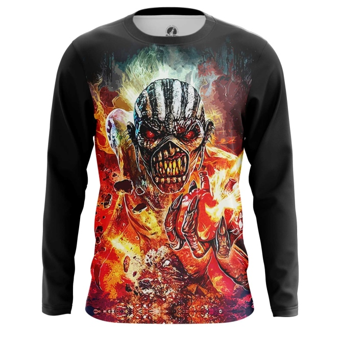 Buy Long sleeve mens t shirt Iron Maiden Merchandise Apparel The Book of Souls Merchandise collectibles