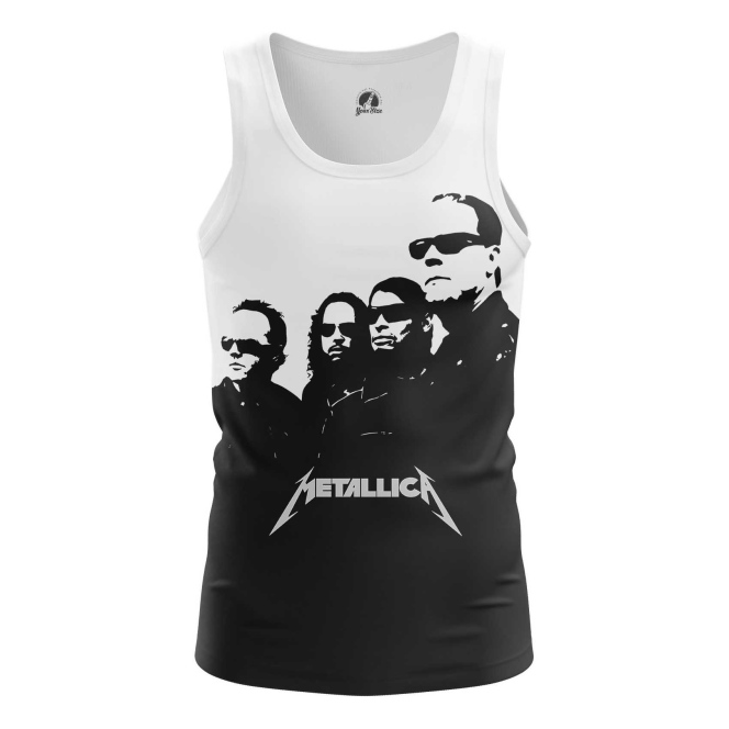 Buy Tank mens t shirt Metallica in black Band Apparel Merchandise Fans Props merchandise collectibles