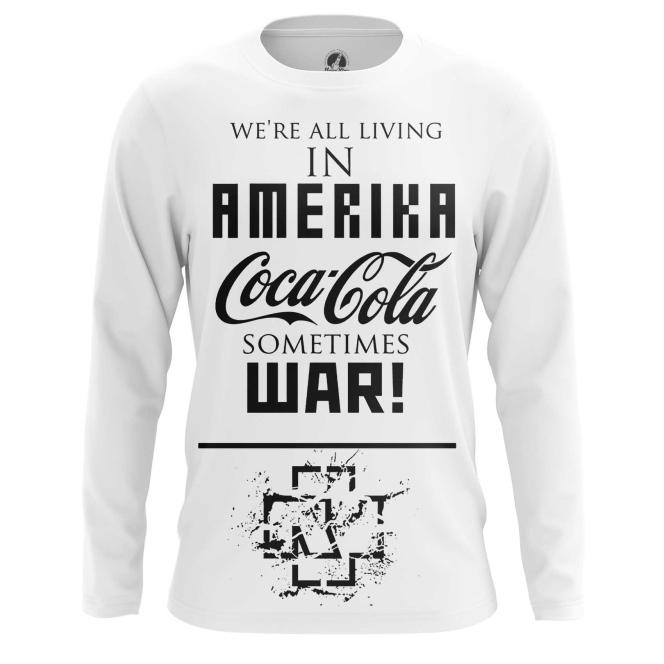 Buy Long sleeve mens t shirt Rammstein Merchandise Band Apparel Amerika Merchandise collectibles
