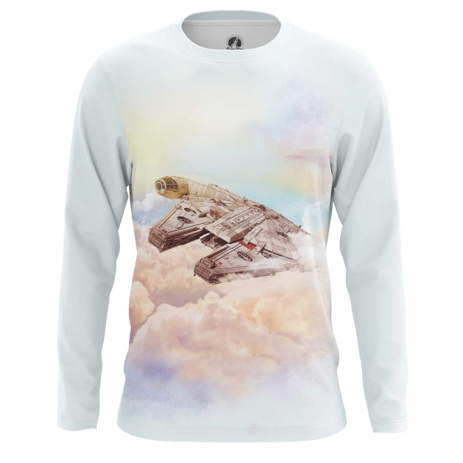 Buy Long sleeve mens t shirt Millennium Falcon Star Wars Ship Art merchandise collectibles