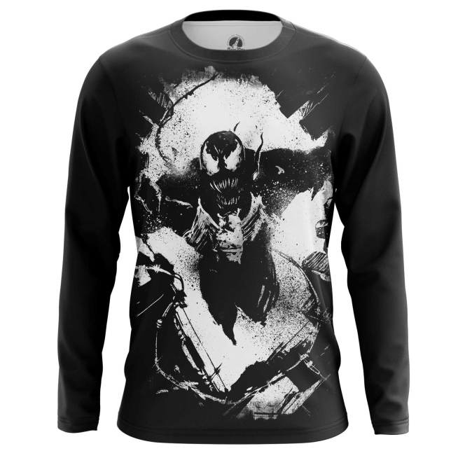 Buy Long sleeve mens t shirt Venom Symbiote Dark Print 2018 merchandise collectibles