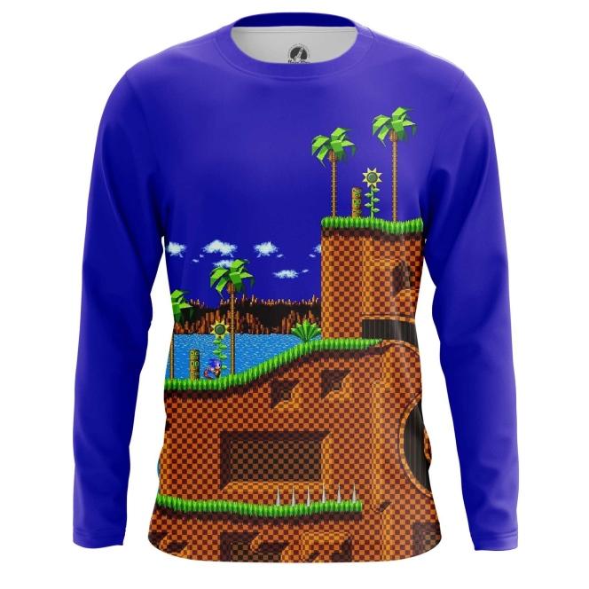 Buy Long sleeve mens t shirt sonic the hedgehog 16 bit World merchandise collectibles