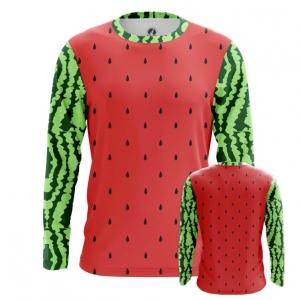 Buy Long sleeve mens t shirt Watermelon Pattern art Fruit merchandise collectibles